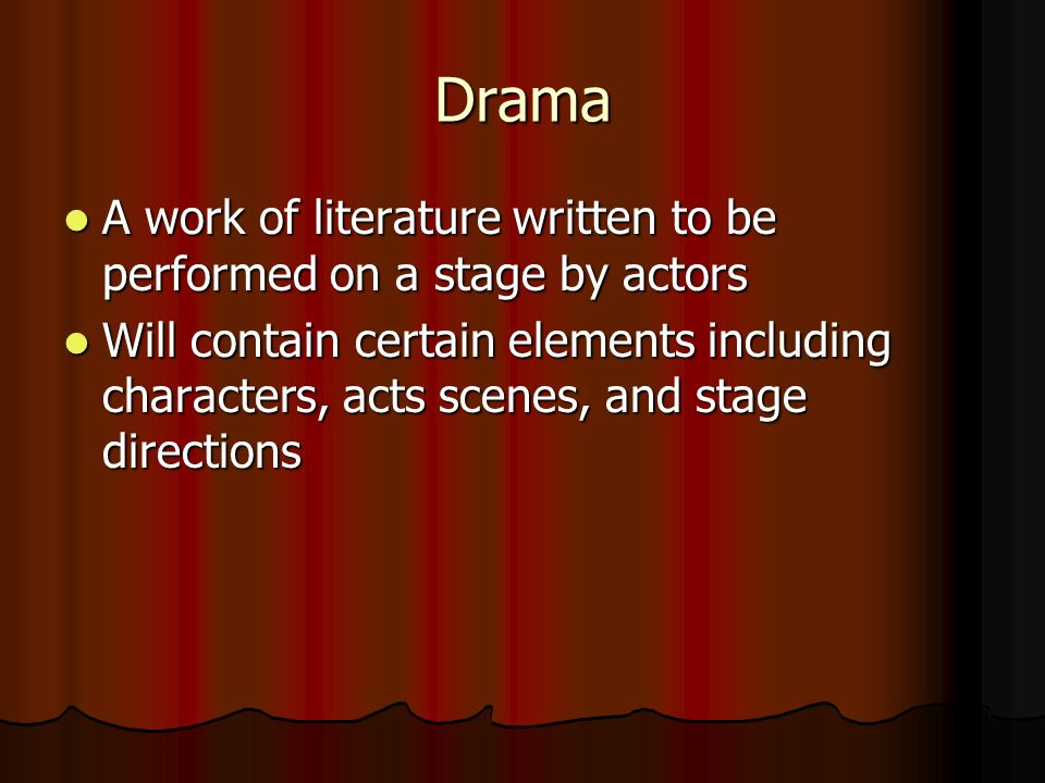 what is drama in literature
