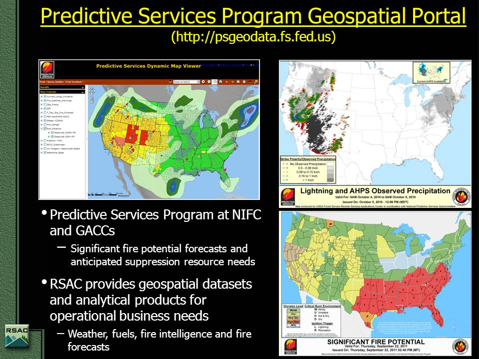Nifc Large Fire Map.Usda Forest Service Remote Sensing Applications Center Fsweb Www