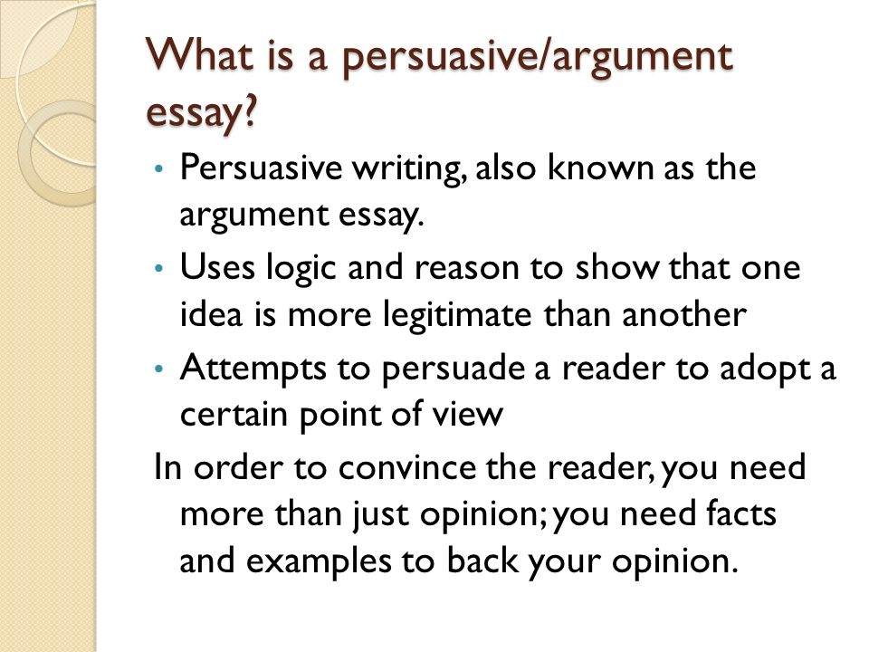 The persuasive essay steps to better writing what is a persuasive
