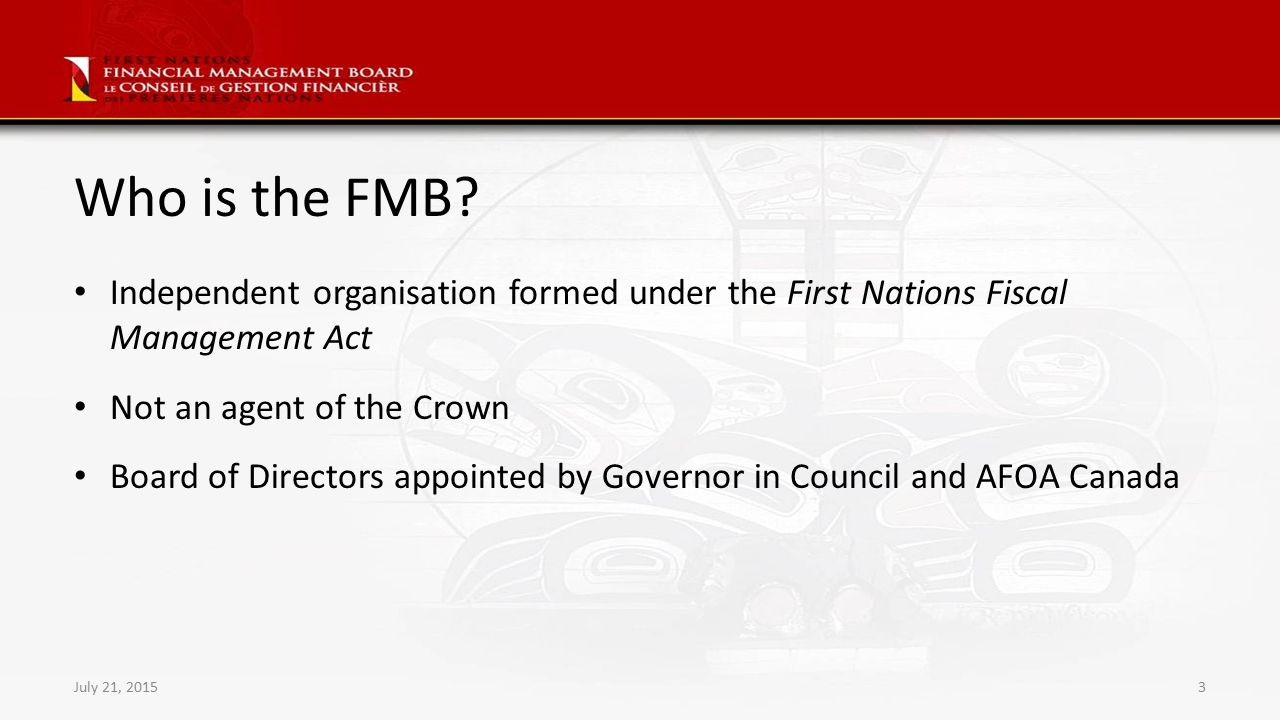 First Nations Financial Management Board Supporting First Nations