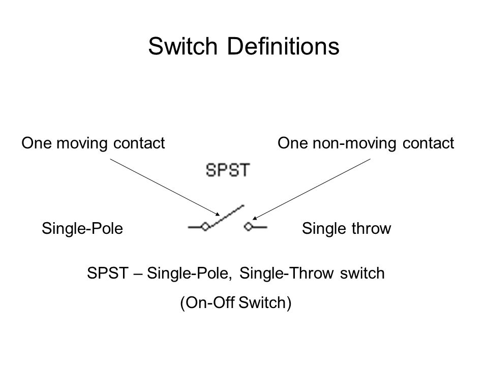 """Switches A switch allows you to """"make"""" or """"break"""" the connection ..."""