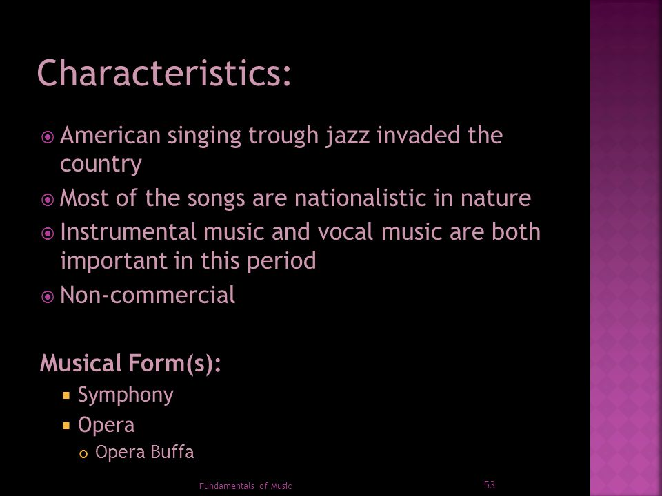 1 Fundamentals of Music  2  Filipinos are said to be