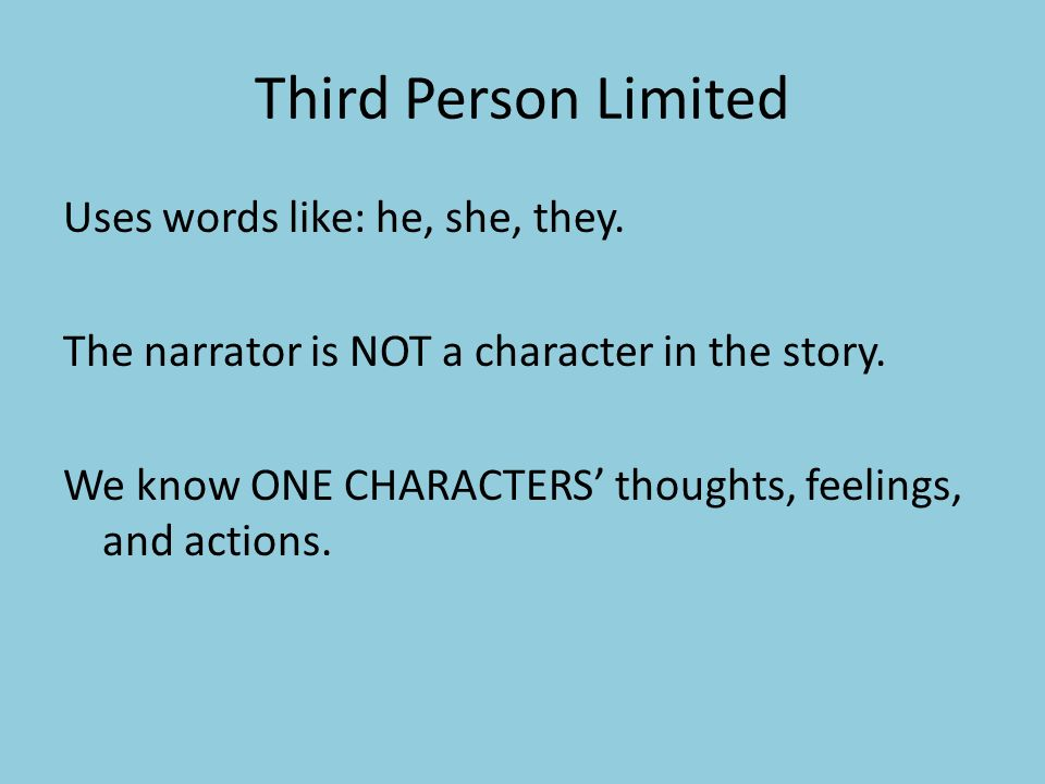 third person language examples