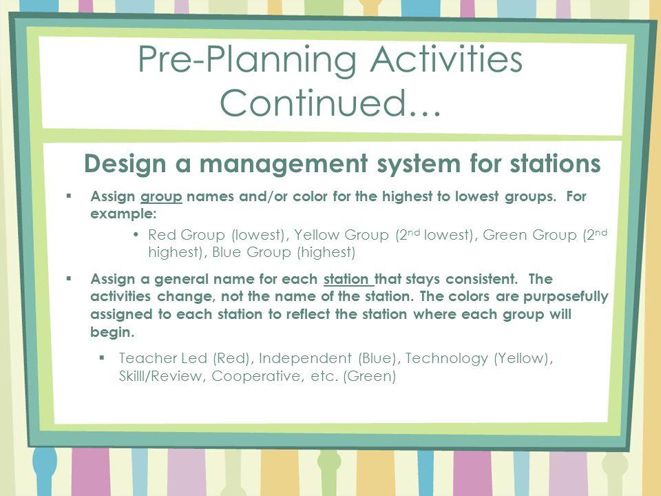 Managing Workshop/Station-Based Learning Model in the