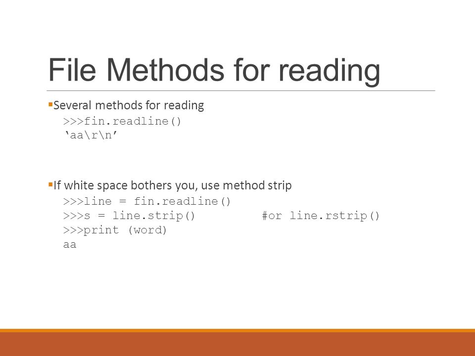 Python Files and Lists  Files  Chapter 9 actually