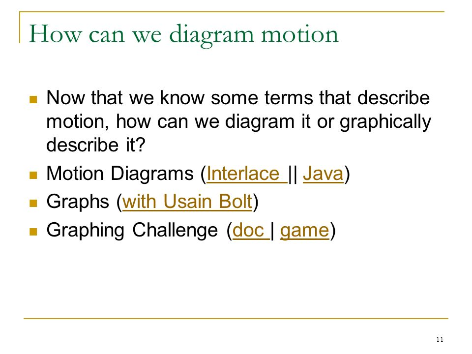 1 Intro To Analysis Of Motion By Mike Maloney 2 What Is Kinematics