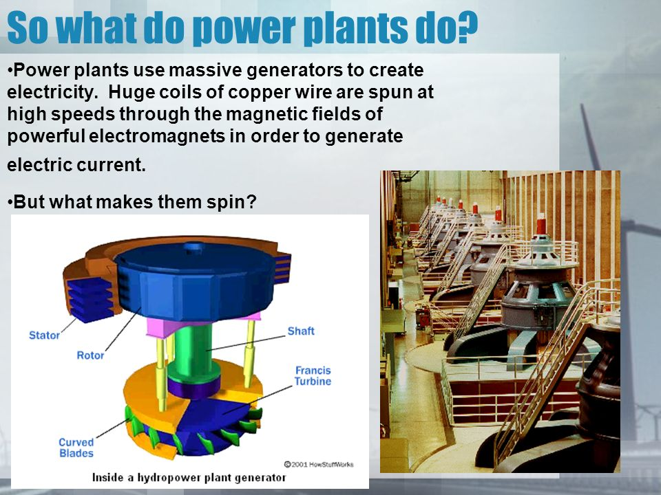 How a Power Plant works Grade 6 Science  Generators A