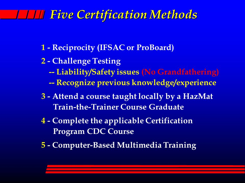 Department Of Defense Hazardous Materials Training Program