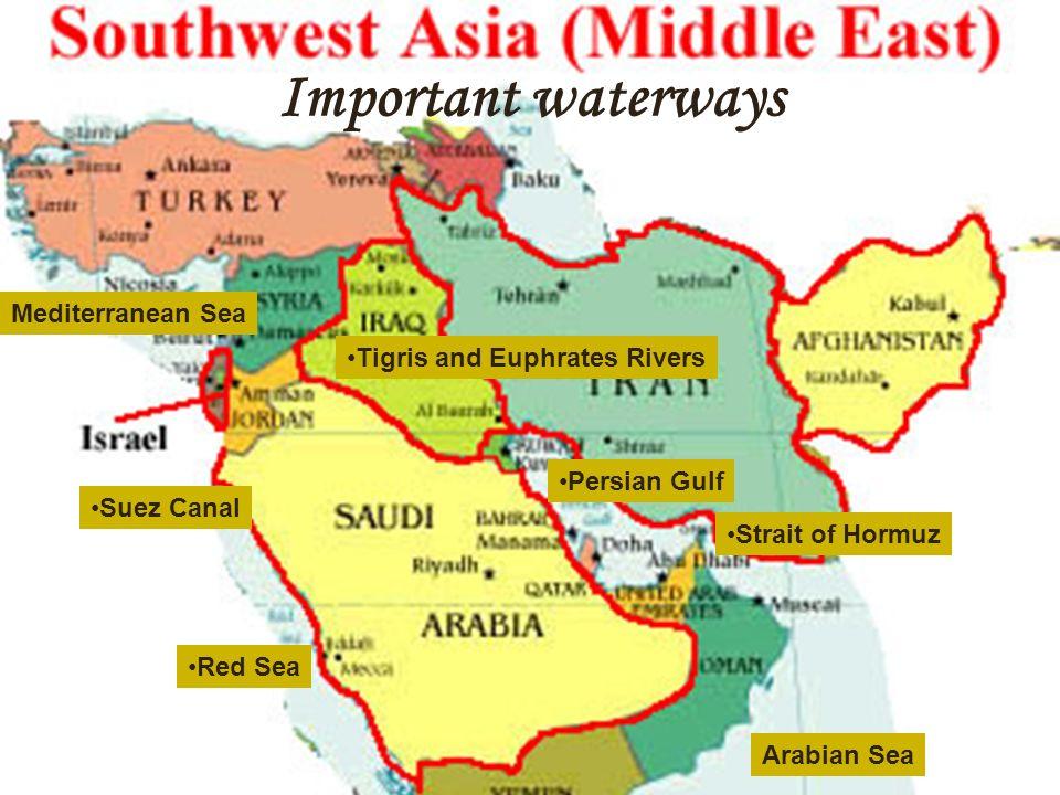 Middle East Map Sinai Peninsula.Chapter 21 Southwest Asia Peninsulas Anatolian Peninsula Between