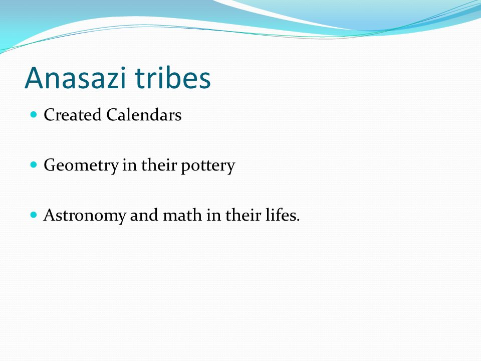 Anasazi tribes Created Calendars Geometry in their pottery