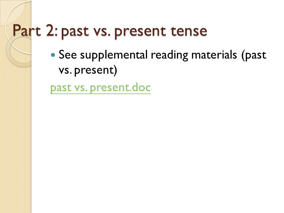 perpetual present tense