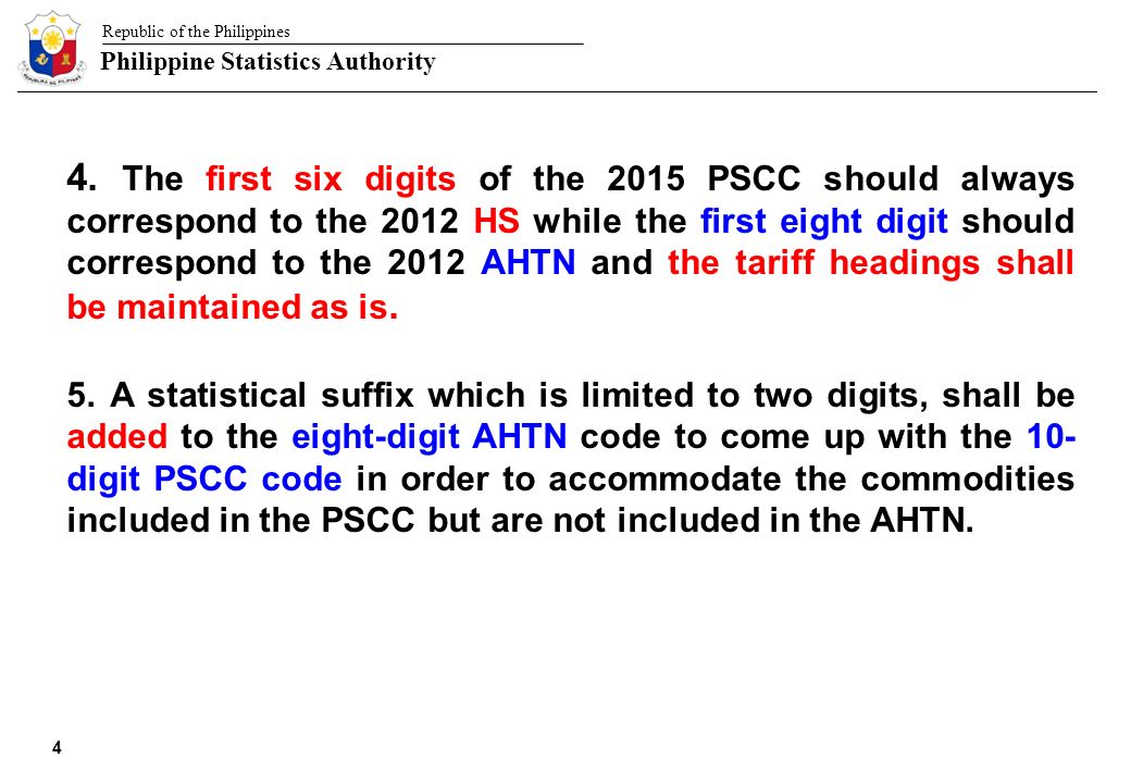 Republic of the Philippines Philippine Statistics Authority ... on