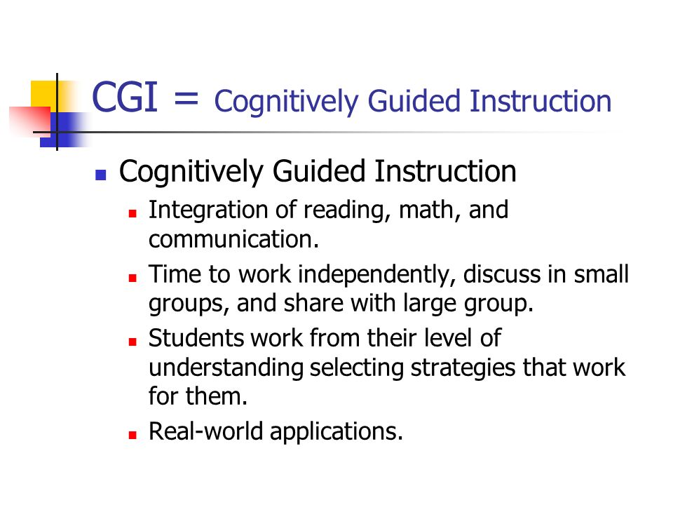 How to implement cognitively guided instruction in your classroom.