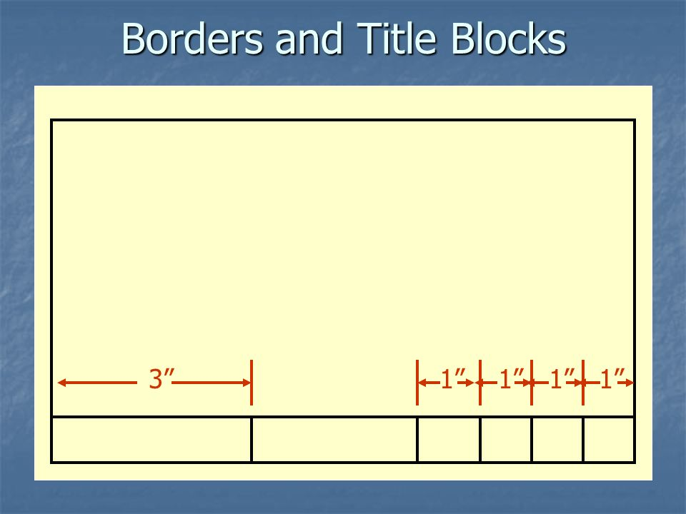 Borders and Title Blocks 3 1 1 1 1