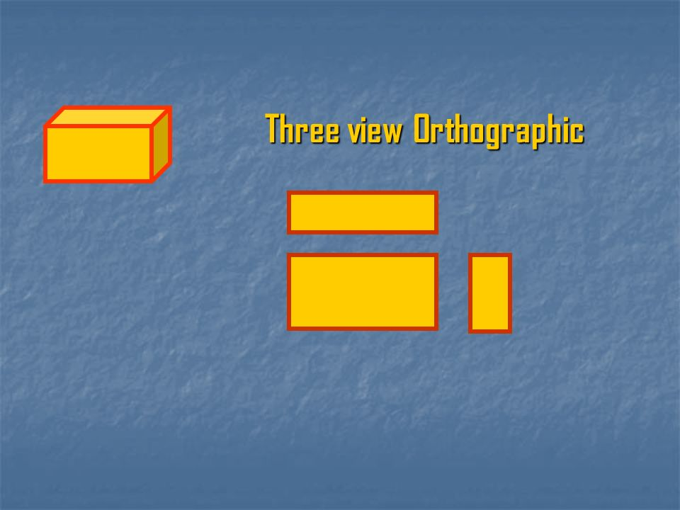 Three view Orthographic