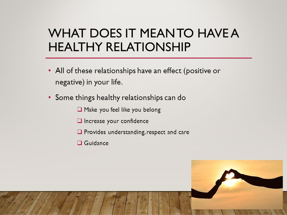 What does in relationship mean