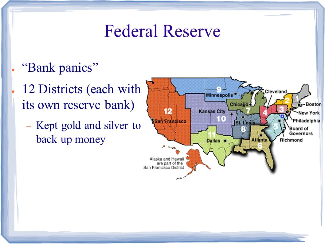 History of U S  Banking ○ 1600s no banks in early colonies