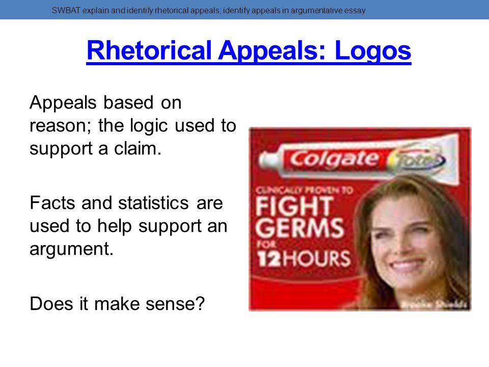 Examples of logos rhetorical appeal