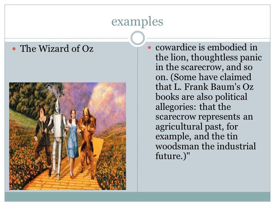 wizard of oz political allegory
