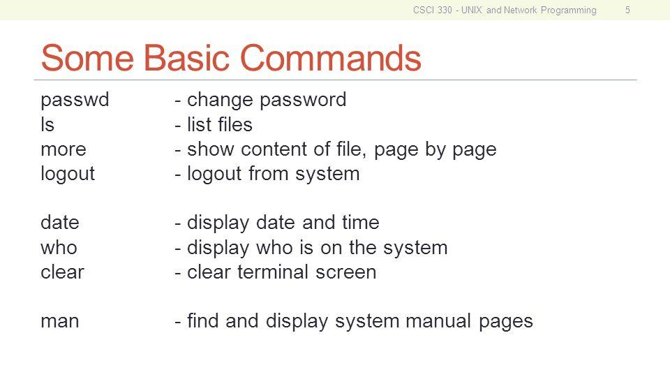 csci 330 unix and network programming unit ii basic unix usage file rh slideplayer com unix date command manual unix date minus 1 month