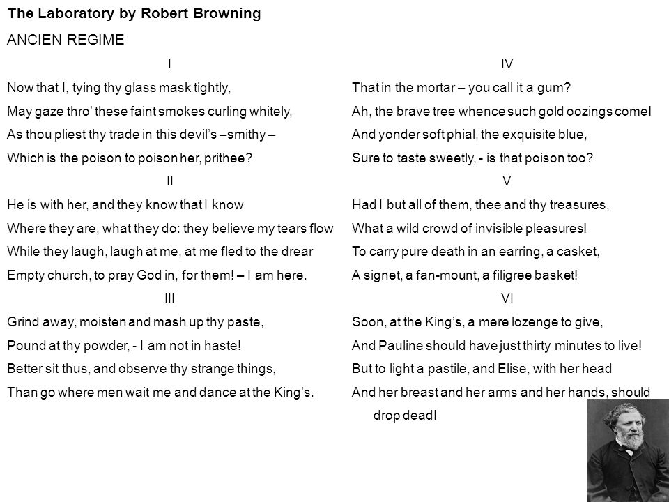 the laboratory robert browning analysis