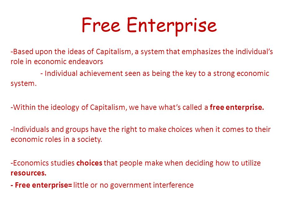 advantages of the free enterprise system worksheet answers