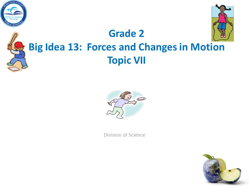 Grade 2 Big Idea 13 Forces And Changes In Motion Topic VII
