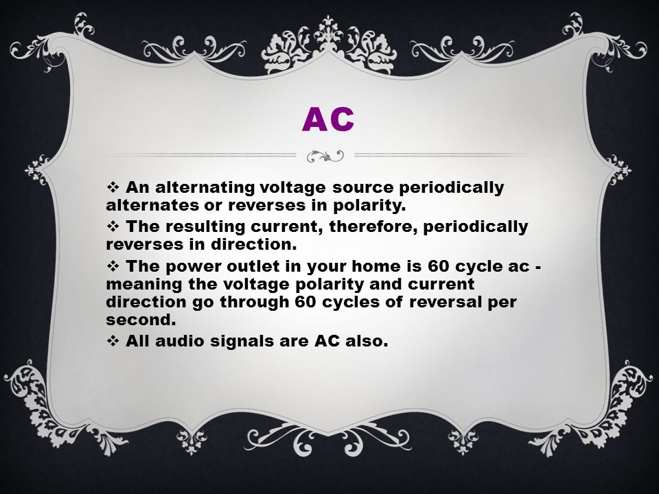 Objectives Define basic components of electricity Recognize the 3 ...