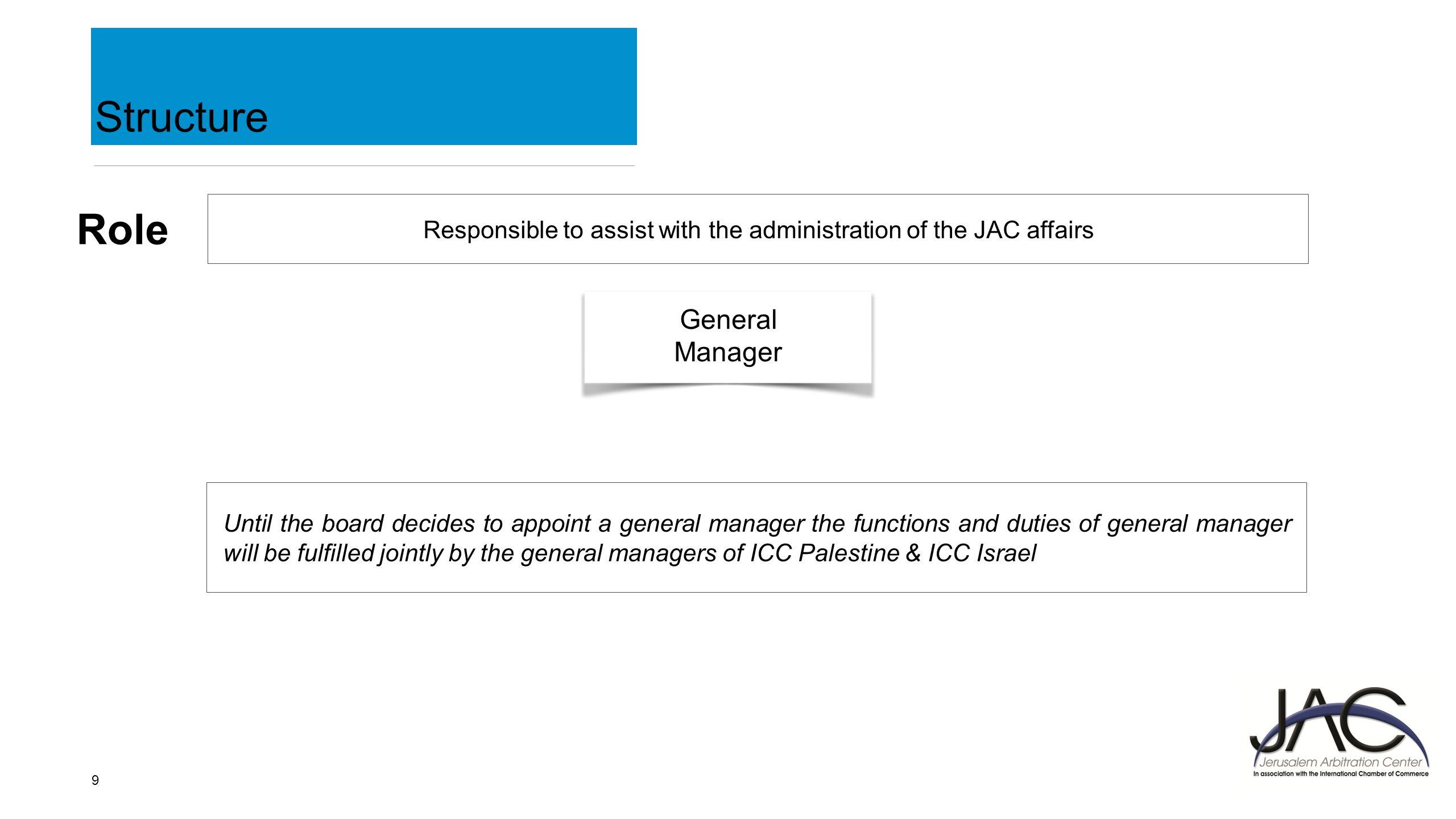1 Jerusalem Arbitration Center 2 A Non Profit Joint Venture Between Icc Wiring Diagram 9 Structure