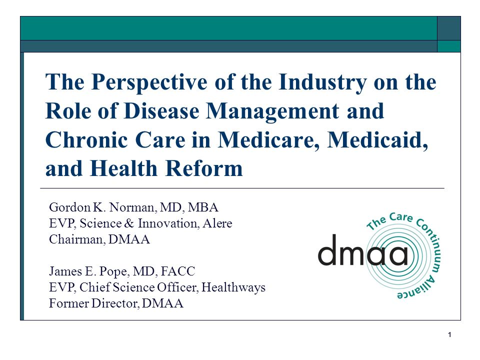 1 The Perspective of the Industry on the Role of Disease Management
