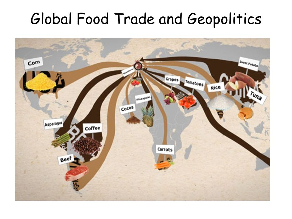 global food trade and geopolitics to explain why the growth in
