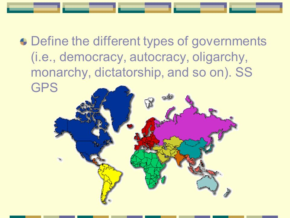 Types Of Government 7 Th Grade Social Studies Define The Different. Define The Different Types Of Governments Ie Democracy Autocracy Olig Y Mon. Worksheet. Types Of Government Worksheets At Clickcart.co