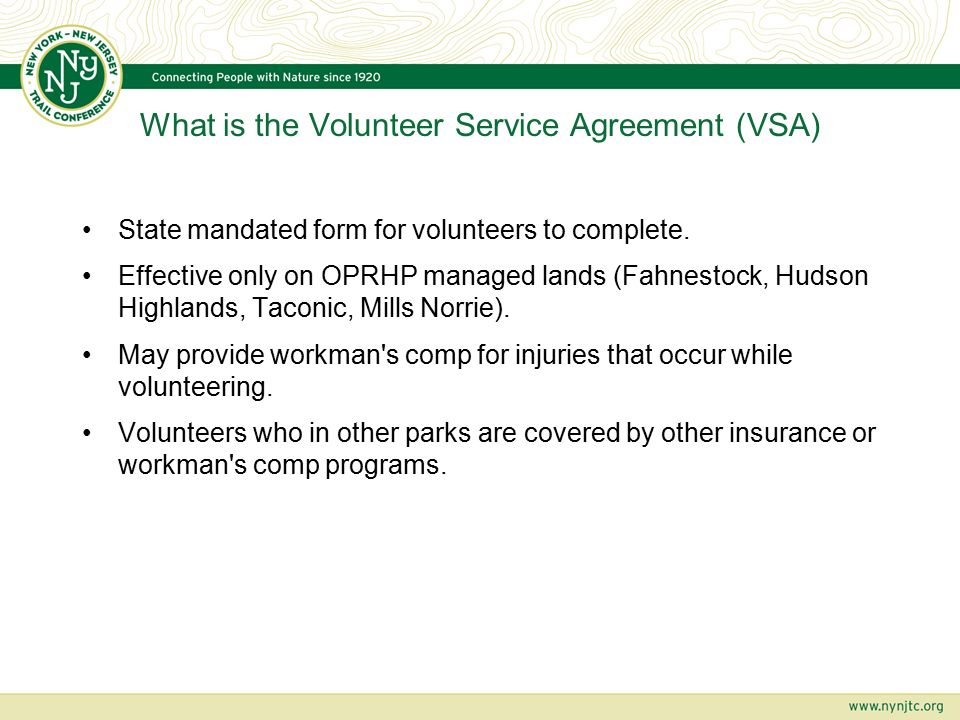 Oprhp Volunteer Service Agreement Vsa Presented By John Leigh Iv