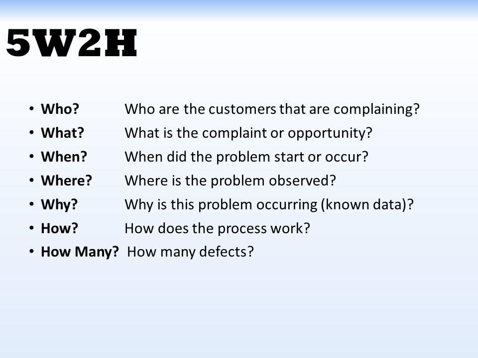 problem solving 5w2h