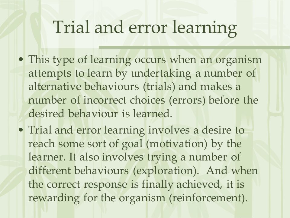 thorndike trial and error
