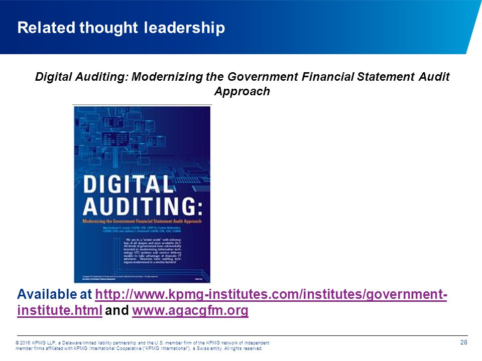 KPMG GOVERNMENT INSTITUTE The Future of Government Financial