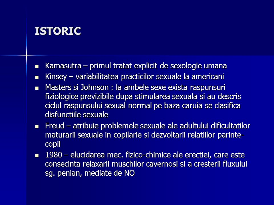 dezvoltarea erecției)