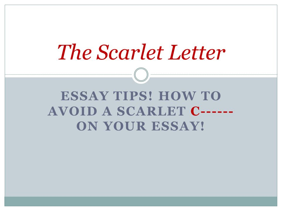 How To Write A Letter Essay  Essay Tips Sample Of Argumentative Essay Writing also Problem Solution Essay Examples Essay Tips How To Avoid A Scarlet C On Your Essay The Scarlet  Modern Love Essays