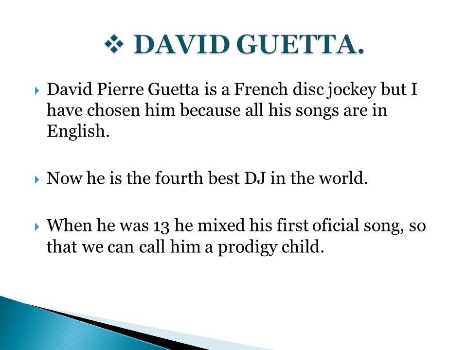 David Guetta First Song