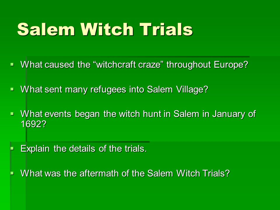 cold weather theory salem witch trials