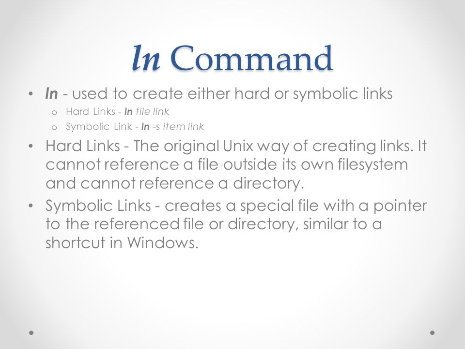 Emt 2390l Lecture 3 Dr Reyes Reference The Linux Command Line