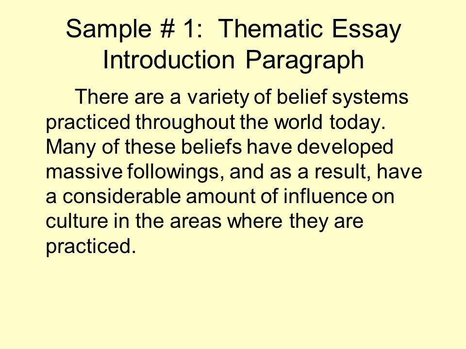 belief system essay