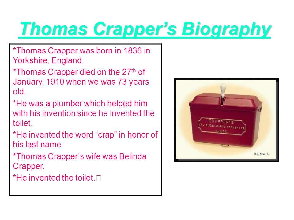 thomas crapper biography