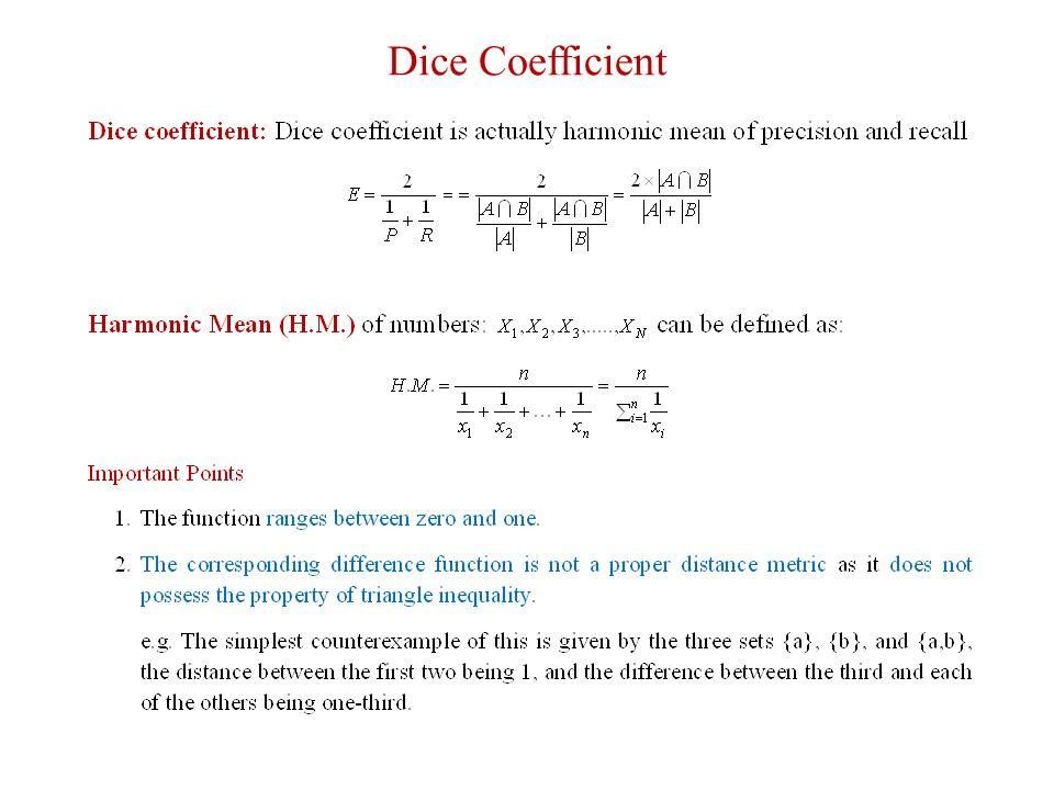 Document Similarity Measures Content:  Precision Recall