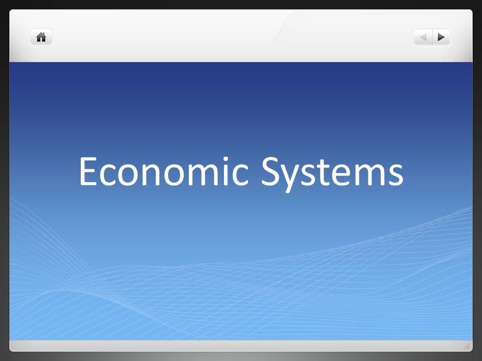 1 Economic Systems
