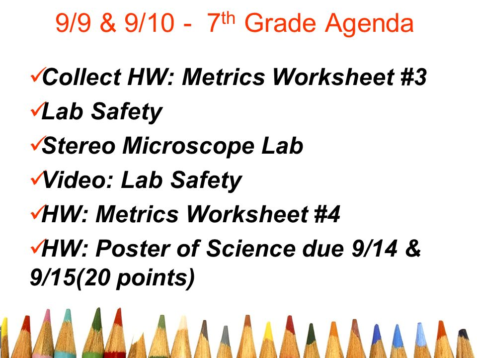 99 9 Th Grade Agenda Collect Hw Metrics Worksheet 3 Lab Safety. Hw Metrics Worksheet 3 Lab Safety Stereo Microscope Video 4 Poster Of Science Due 914 91520 Points. Worksheet. Microscope Mania Worksheet At Mspartners.co