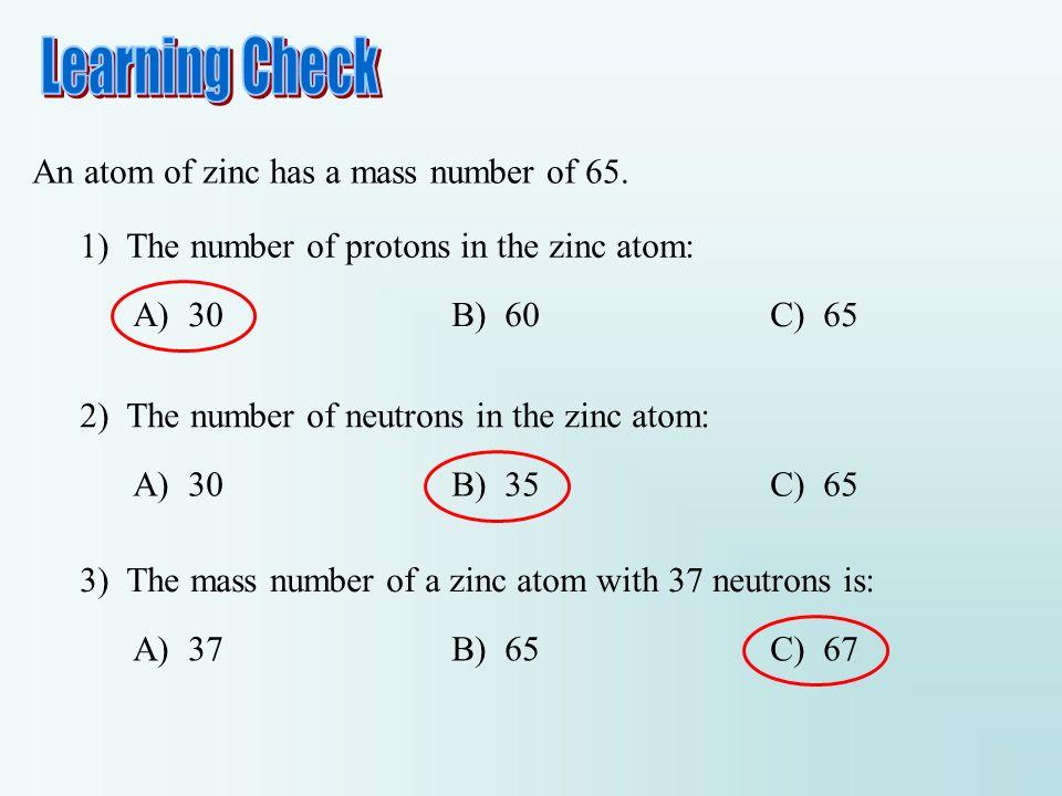 Periodic table zinc neutrons elcho table an atom of zinc has a mass number 65 urtaz Images