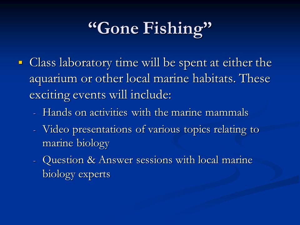 marine biology topics
