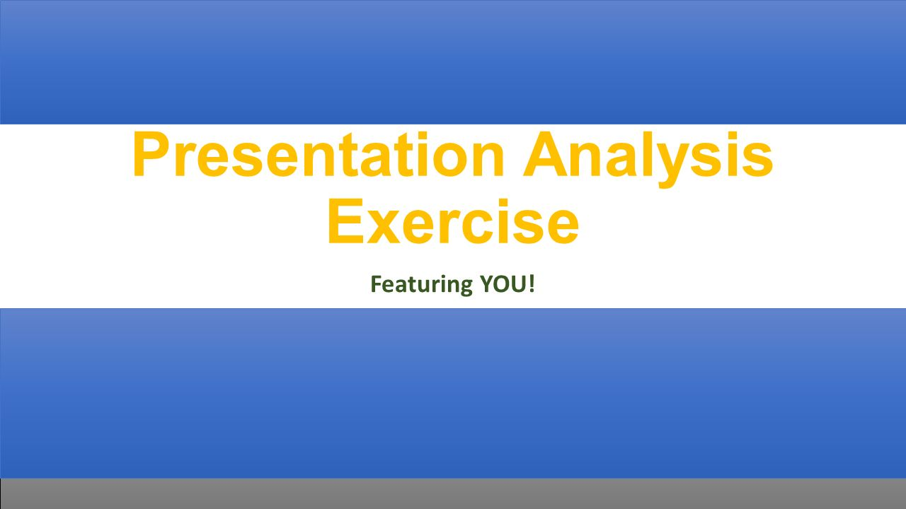 powerpoint presentation on exercise