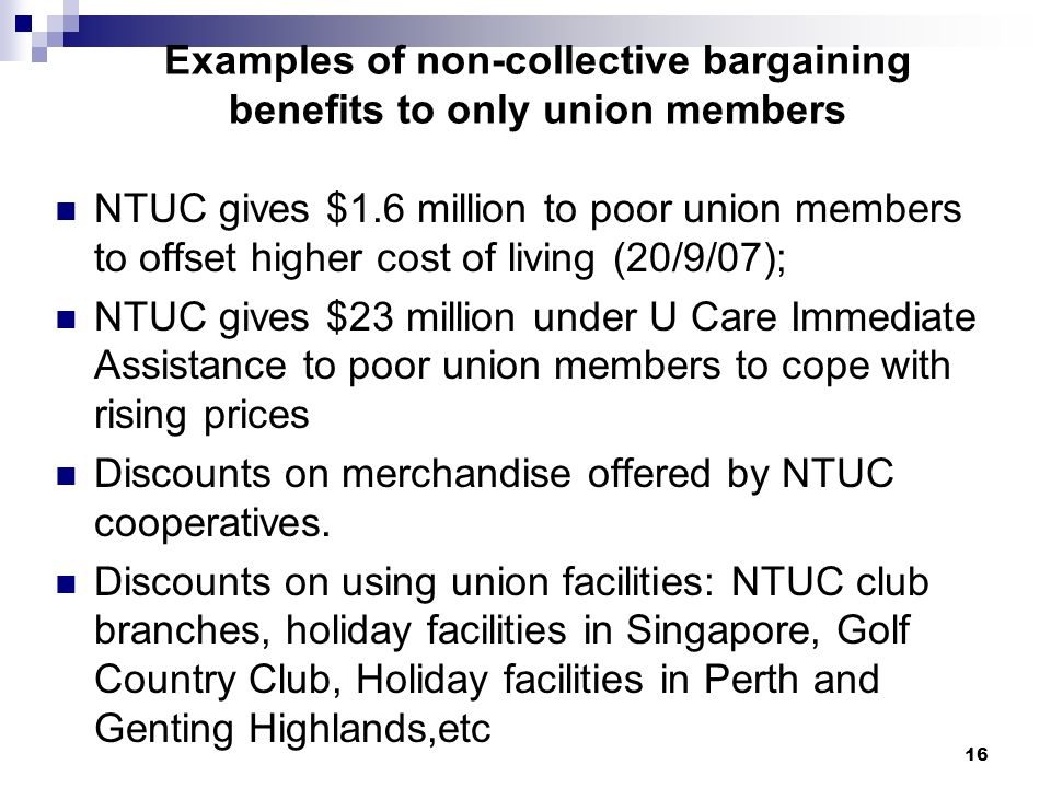 1 Unions And Union Benefits As Part Of The Inclusive Growth Strategy